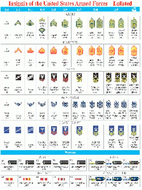 All Military Ranks Chart Wwwproteckmachinerycom