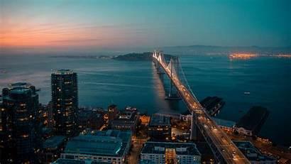 Francisco San Night Bridge Background 1080p Fhd