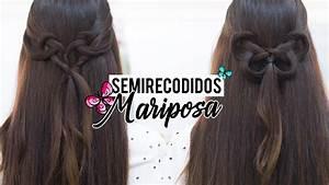 Peinados Fciles Con Semi Recogidos En Forma De Mariposa