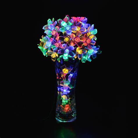 solar powered flower string lights   amazon