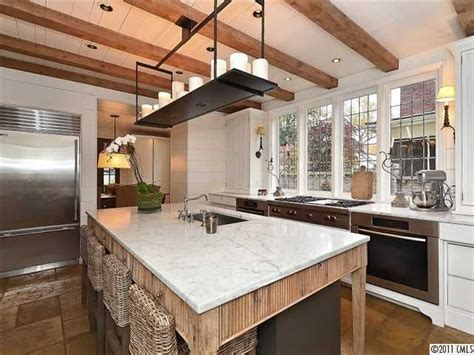 dream kitchen table island rustic spaces modern