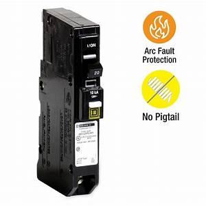 Square D QO 20 Amp Single Pole Plug On Neutral Combination