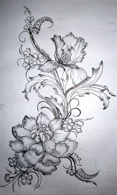 flower design pencil drawing  images pencil