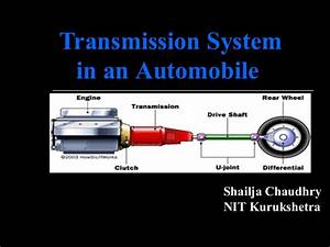 Manual Transmission System In Automobiles