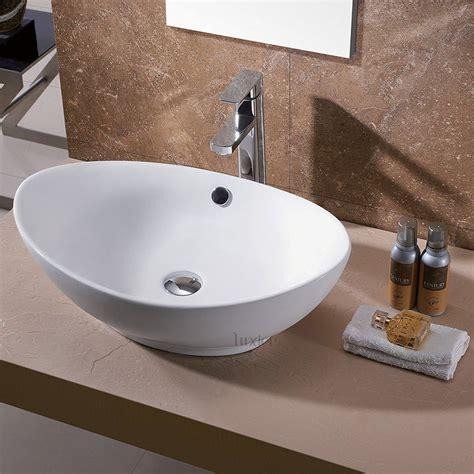 luxier cs  bathroom egg porcelain ceramic vessel vanity
