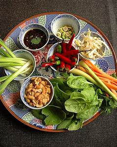 Thai Cooking in its most simplistic formsalad rolls