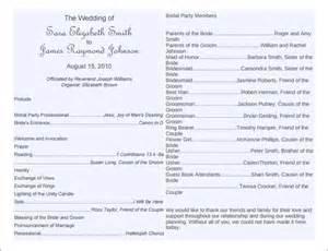 wedding programs trifold free printable one page wedding program templates
