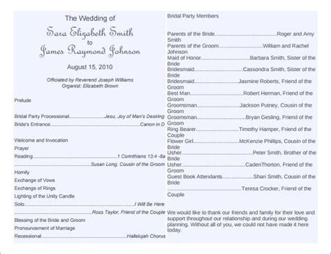 wedding program template word 8 word wedding program templates free free premium templates
