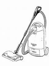 Vacuum Coloring Cleaner Printable sketch template