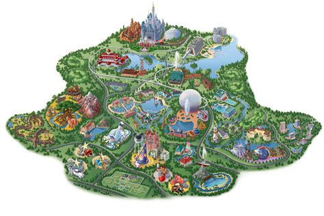 disney parks vintage walt disney world  maps  walt