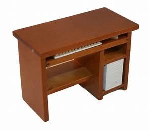 Pc Tisch Holz : pc tisch computertisch holz mittelbraun 1 12 sk spielwaren ~ Markanthonyermac.com Haus und Dekorationen