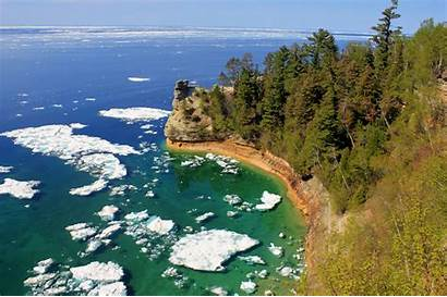 Rocks Pictured Michigan Lakeshore National Castle Miners