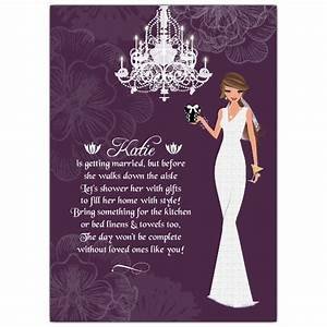 Love and Lace Brunette Bridal Shower Invitations PaperStyle
