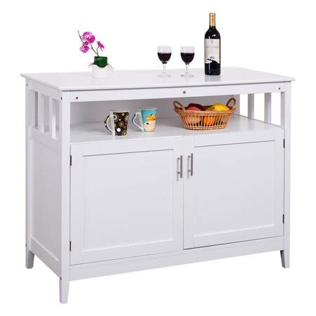 kitchen buffet storage cabinet costway modern kitchen storage cabinet buffet server table 5138