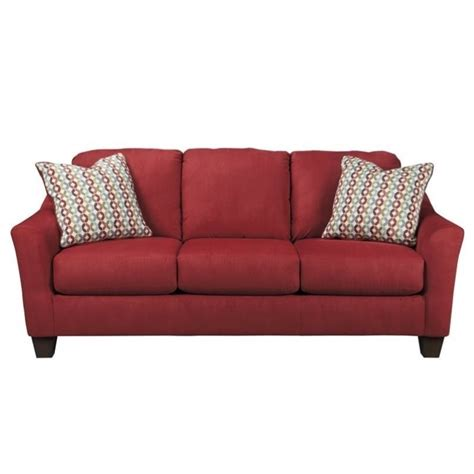 queen size sleeper sofa ashley hannin fabric queen size sleeper sofa in spice