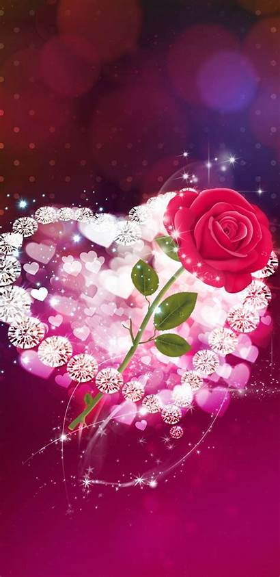 Iphone Heart Flower Wallpapers Hearts Pretty Unknown