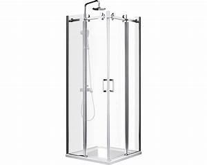 porte coulissante a double battant pour douche coin With porte douche double battant