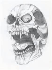 Awesome Skull Drawing