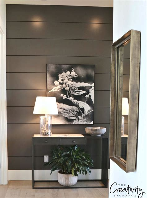 Bedroom Wall Paint Sheen by Painted Shiplap Accent Walls In Rich Colors Home Diy