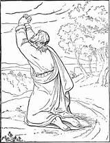 Jesus Coloring Garden Bible Praying Gardenofpraise Gethsemene sketch template
