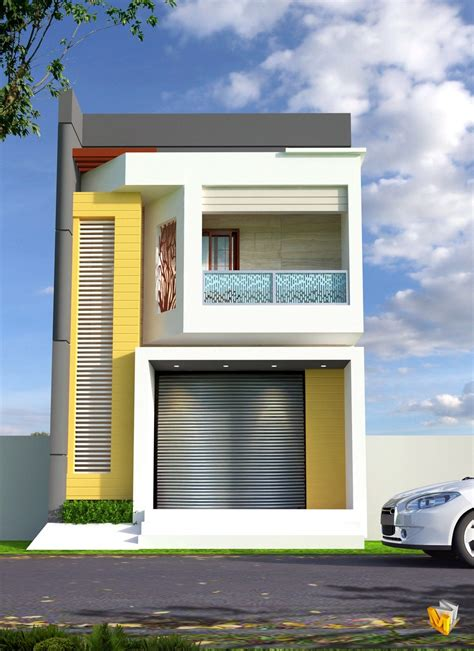 The row house is narrow at just 16 feet wide but it is also a lot bigger inside than it appears from the outside. AP004-Small Row House Plan - Archplanest