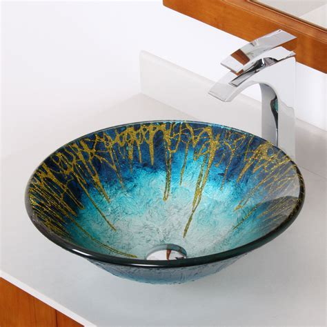 1309 ELITE Modern Design Tempered Glass Bathroom Vessel