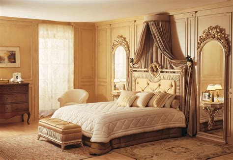 classic louvre bedroom bed  wall mirror white