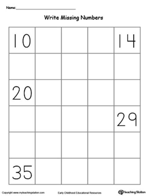 kindergarten writing numbers printable worksheets