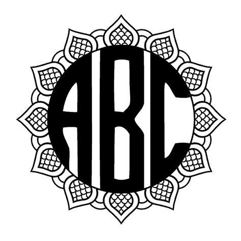 circle monogram font  create    monogram maker