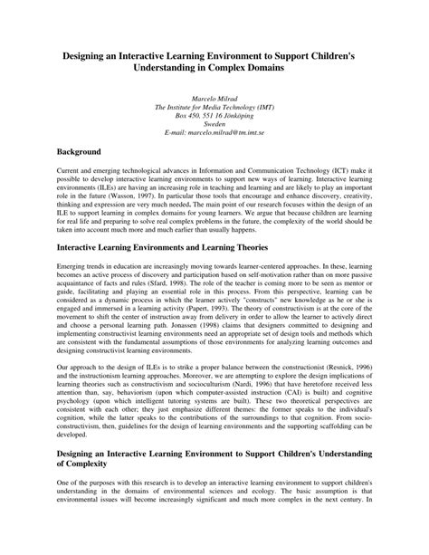 designing  interactive learning environment