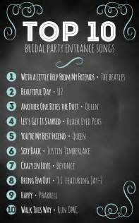 top 10 bridal entrance songs - Best Wedding Reception Entrance Songs