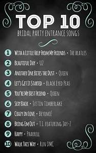 top 10 bridal party entrance songs With best wedding ceremony songs