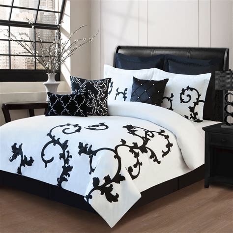 black and white comforter set bedroom set gold tufted headboard royal luxostart cal king