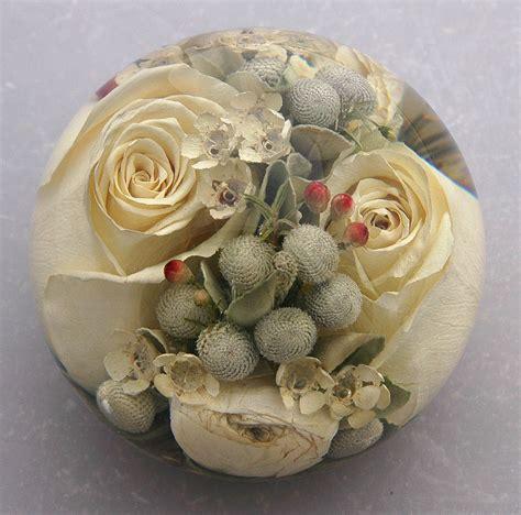 flower preservation paperweights  lovely keepsake