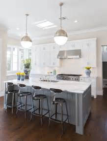 kitchen islands white hallie henley design the contrast of darker floors with white cabinets gray island is