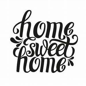 Home sweet home - typography - Custom Wallpaper