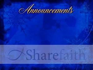 Christmas Snowflake Announcement Background | Church ...