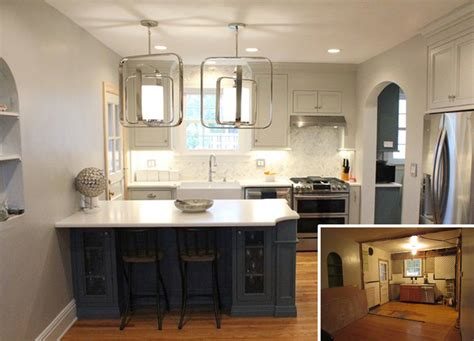 Small Kitchen Remodel by Before After Small Kitchen Remodel Karr Bick Kitchen