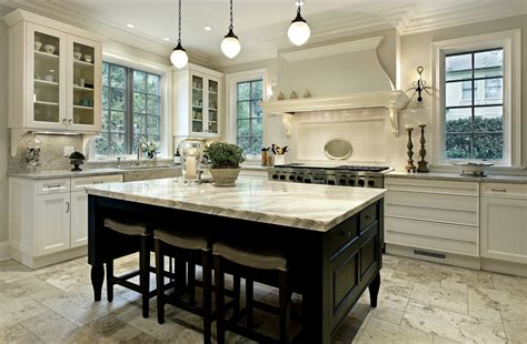 big white kitchen 35 beautiful white kitchen designs with pictures 959 | large white kitchen with dark wood island