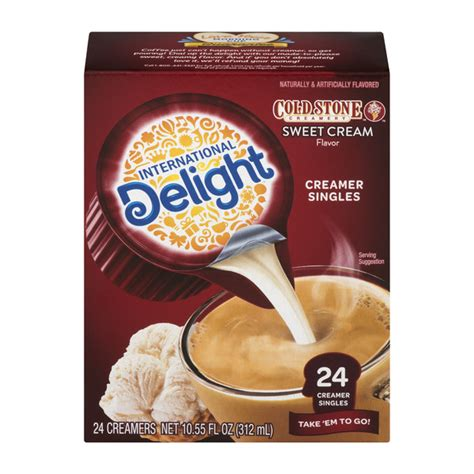 Imagine a cold stone creamery™ favorite, right in your coffee! Save on International Delight Cold Stone Coffee Creamer Sweet Cream Singles 24 ct Order Online ...