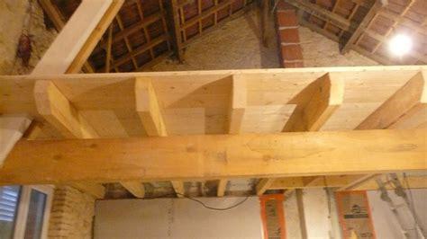 creer un plancher bois finitions bout de poutres plancher mezzanine qqun a une id 233 e