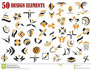 Abstract Graphic Design Elements And Symbols Stock Vector ...