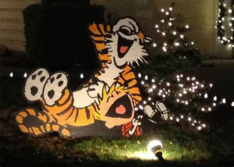 calvin and hobbes christmas lawn decorations pursuitist