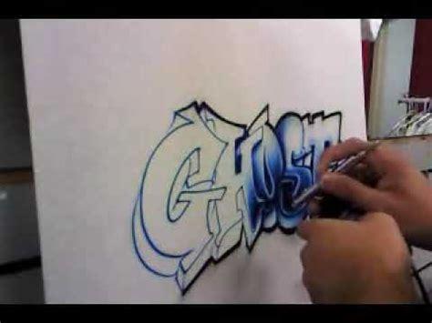 ghost airbrushed graffiti youtube