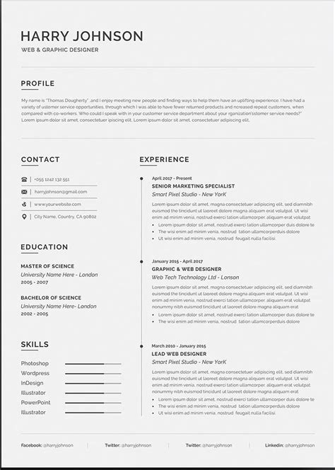 20+ Free And Premium Word Resume Templates [Download] intended for Microsoft Word Resumes
