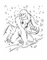 Yeti Coloring Pages Bigfoot Printable Running Unicorn Supercoloring Categories Drawing sketch template