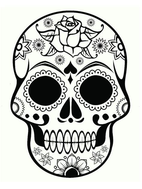 dessin tete de mort mexicaine coloriage t 234 te de mort mexicaine 20 dessins 224 imprimer 201 t 233 2018 skull coloring pages