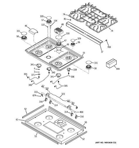 ge model jgspsekss   range gas genuine parts