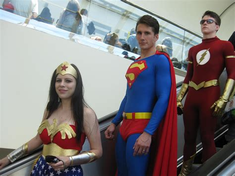 Excellent Costumes This Year At Con Wonder Woman, Superman
