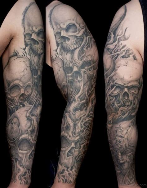 Classic Skull Tattoos For Full Sleeve